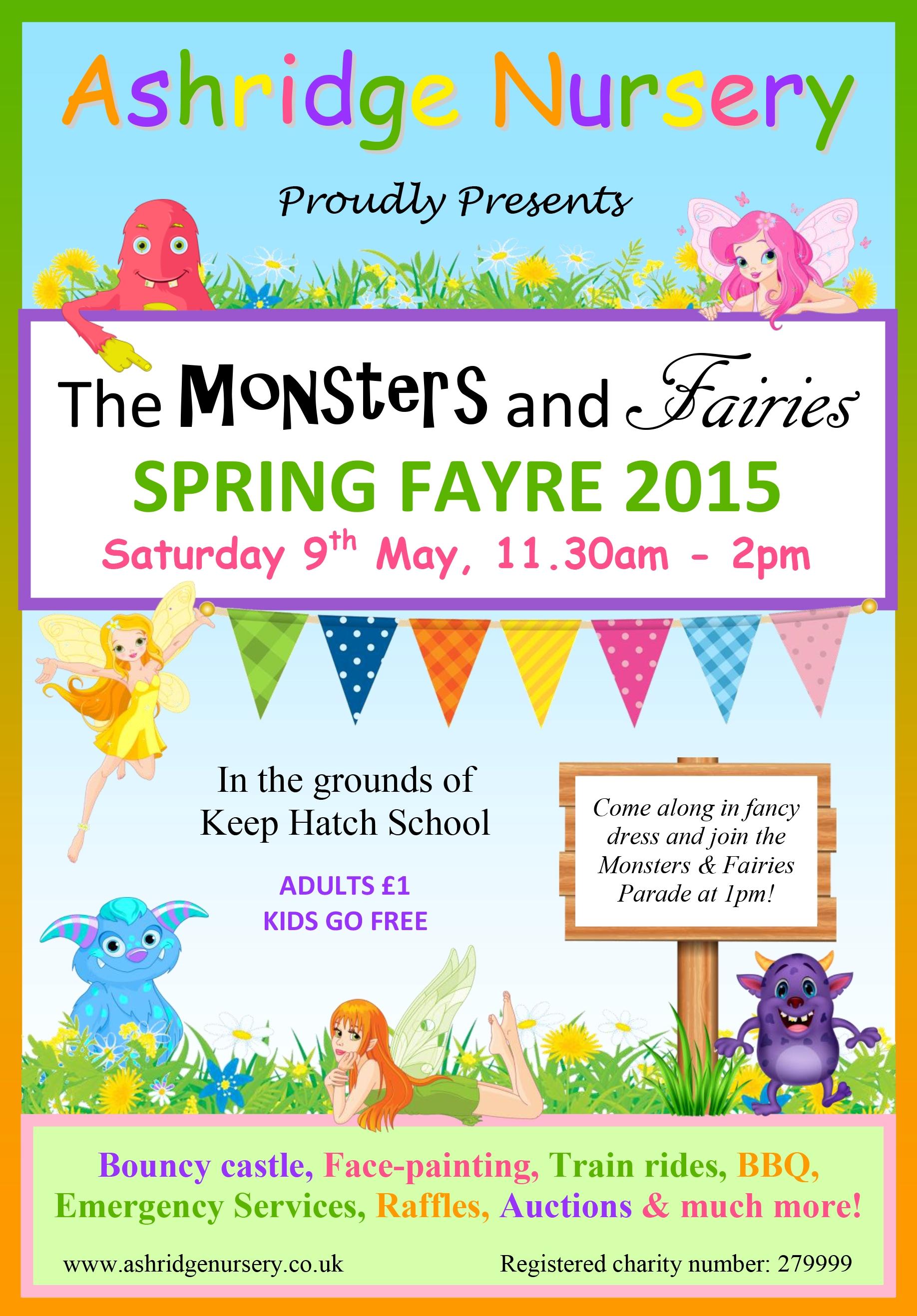 Spring Fayre 2015 Thank You Ashridge Nursery Wokingham